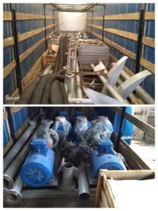 Отгрузка насосной установки и резервуаров. 2