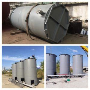 Изготовление резервуаров для насосной установки подачи рапы 1