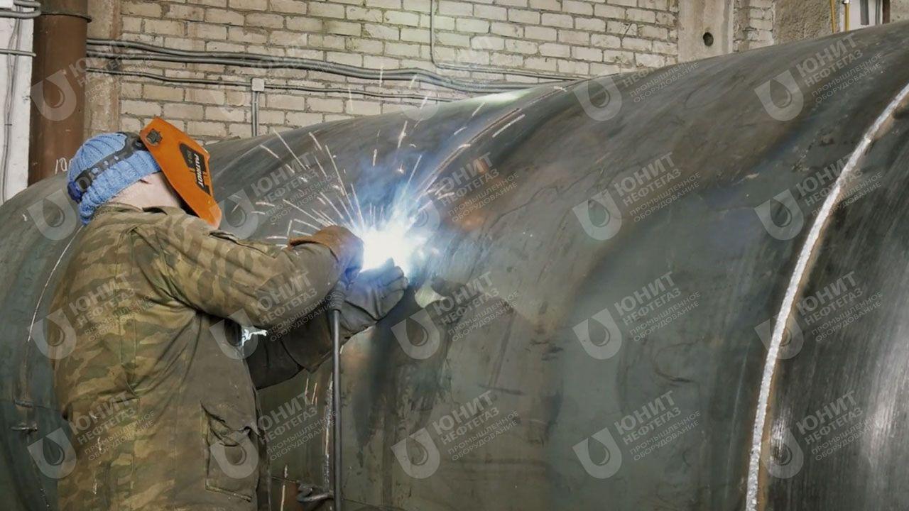 Сварочные работы по изготовлению корпуса резервуара