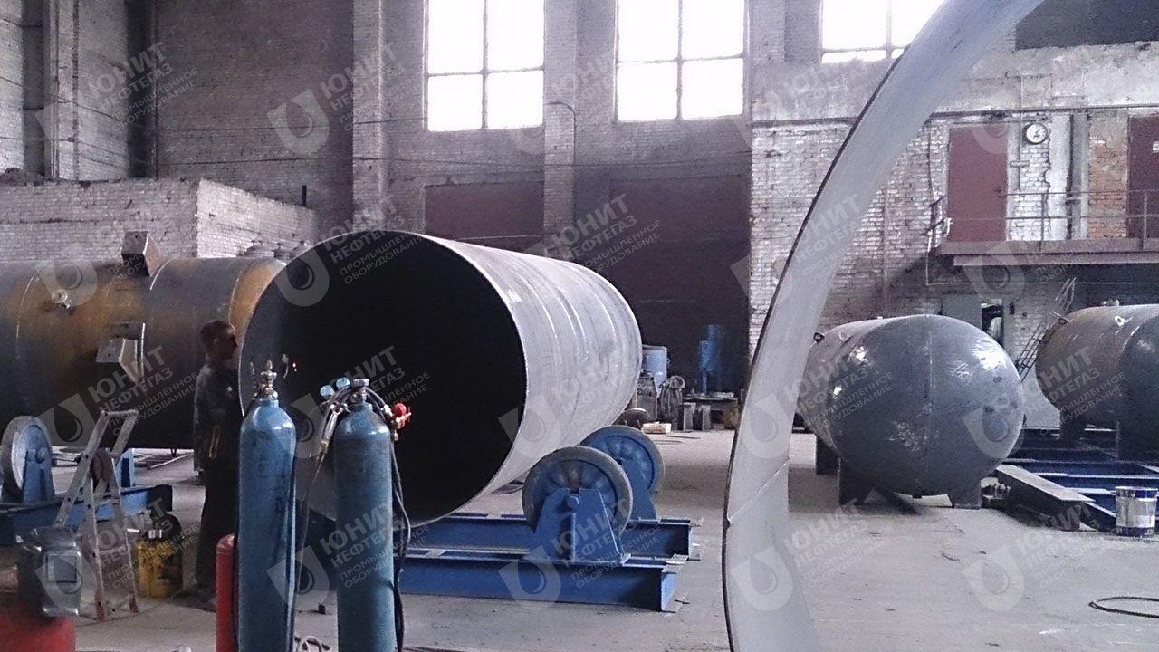 Этап изготовления резервуара, изготовление обечайки
