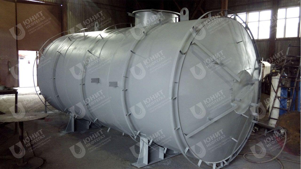 Резервуар горизонтальный, крепления теплоизоляции