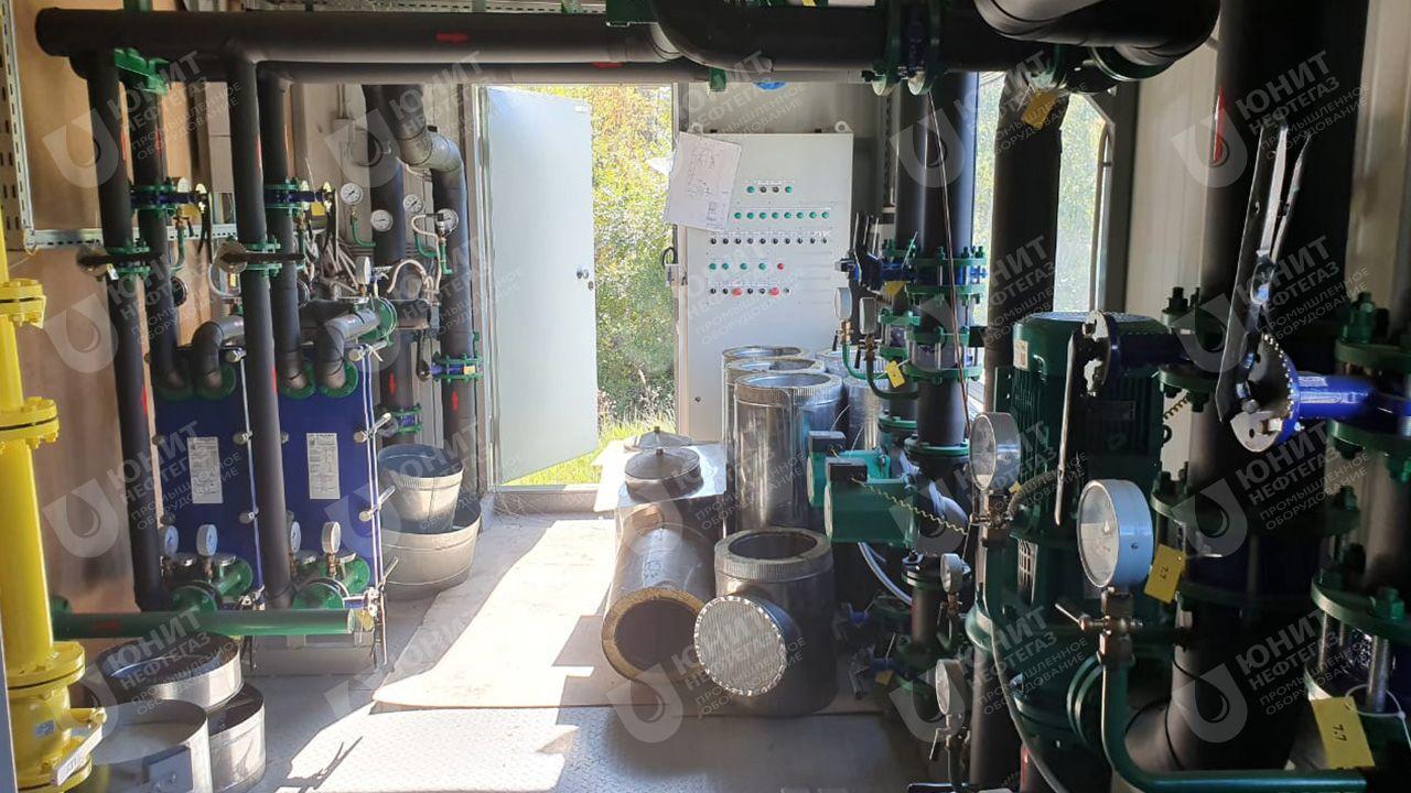 Модульная котельная установка типа ТКУ - трубопроводы и теплообменники контура ГВС
