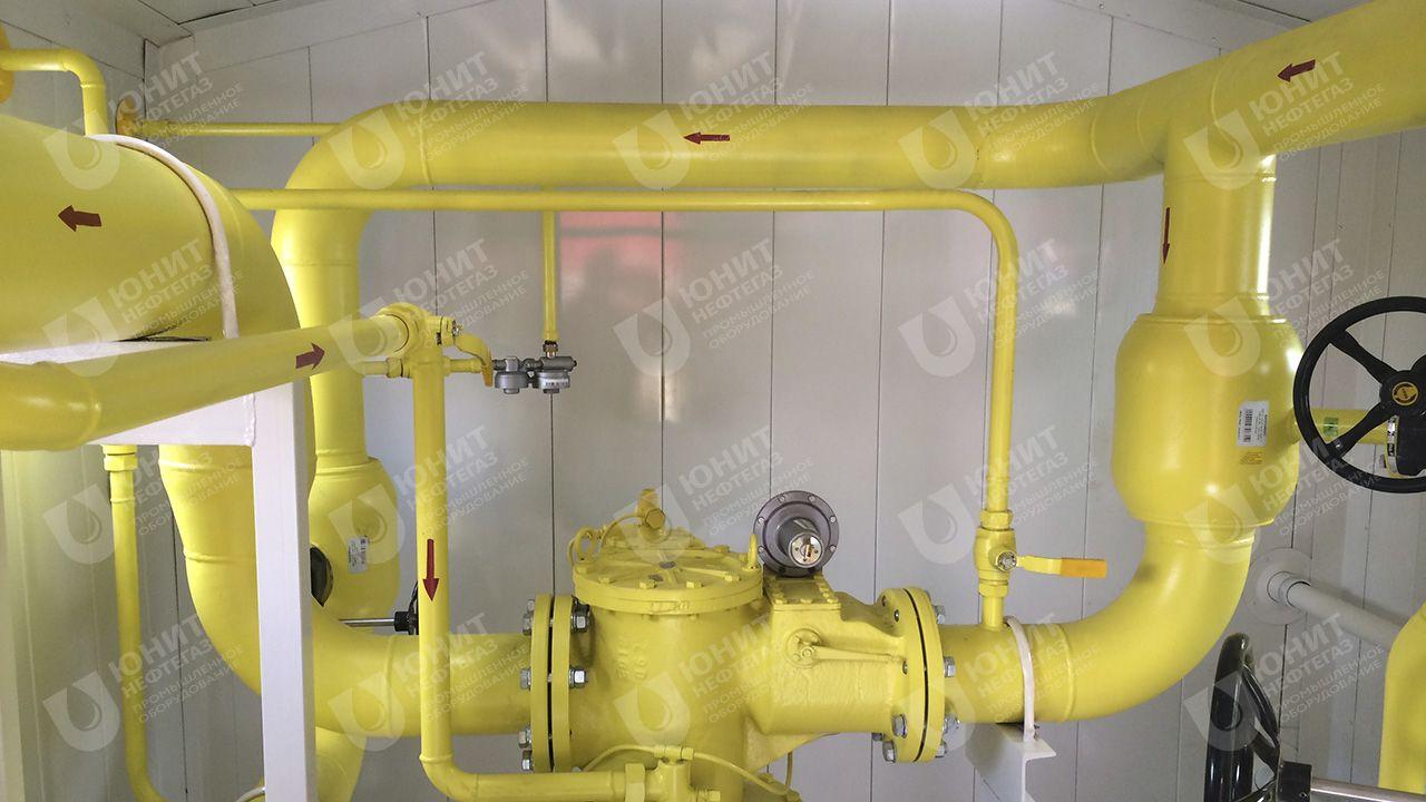 Технологическая обвязка пункта газорегуляторного блочного (ПГБ)