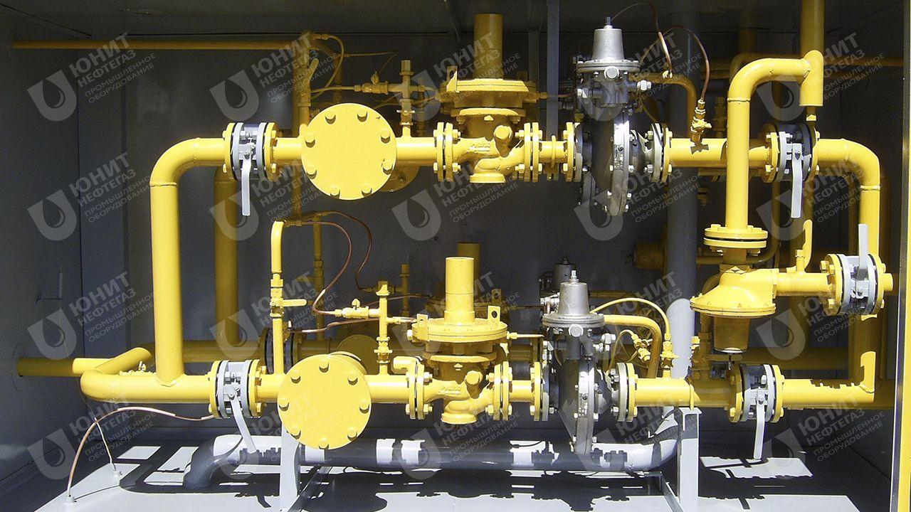 Газорегуляторная установка на базе 4-х регуляторов давления газа РДП-50