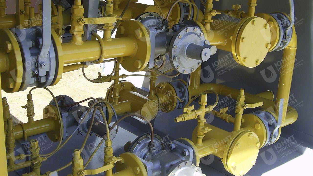 Газорегуляторная установка с четырьмя линиями редуцирования газа
